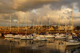 43 - Fisherrow Harbour In The Evening