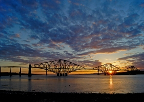 43 - Forth Rail Bridge At Sunset