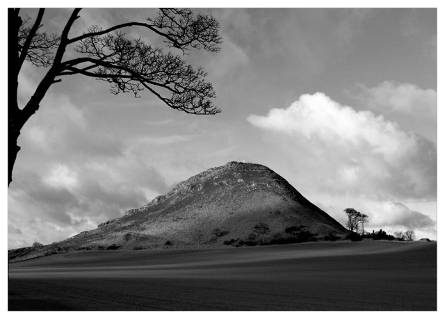 North_Berwick_Law_from_East_B&W_exp_lighter_print_2